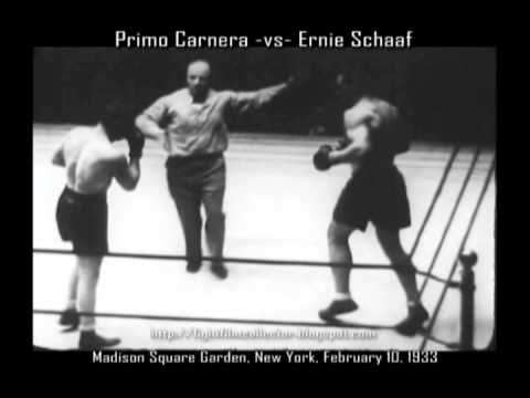 Primo Carnera -vs- Ernie Schaaf, February 10, 1933 (16mm Transfer w/postfight)