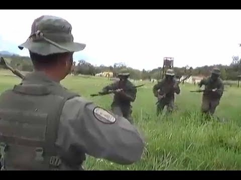 Venezuela Military tries to scare US Marines
