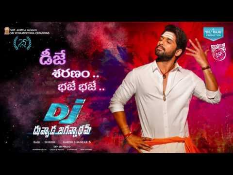 DJ Saranam Bhaje Bhaje Motion PosterDJ SongsAllu ArjunPooja HegdeDSP