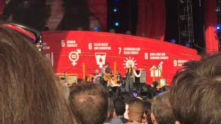 Chris Martin and Ariana Grande - Just a Little Bit of Your Heart at Global Citizens Festival