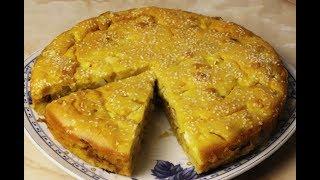 Рецепт Вкусного Наливного Пирога с Капустой и Яйцами
