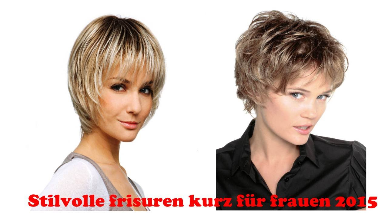stilvolle frisuren kurz f r frauen 2015 youtube. Black Bedroom Furniture Sets. Home Design Ideas