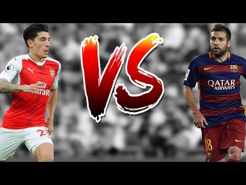 Hector Bellerin VS Jordi Alba - Who is the Fastest Player / Amazing Speed Show - 2016/2017