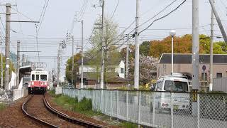 600形沖松島駅到着→発車