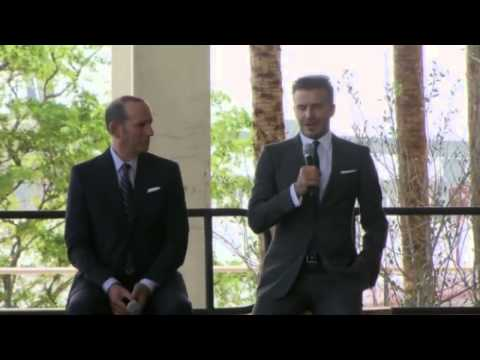 David Beckham Press Conference  Football star buys MLS franchise in Miami