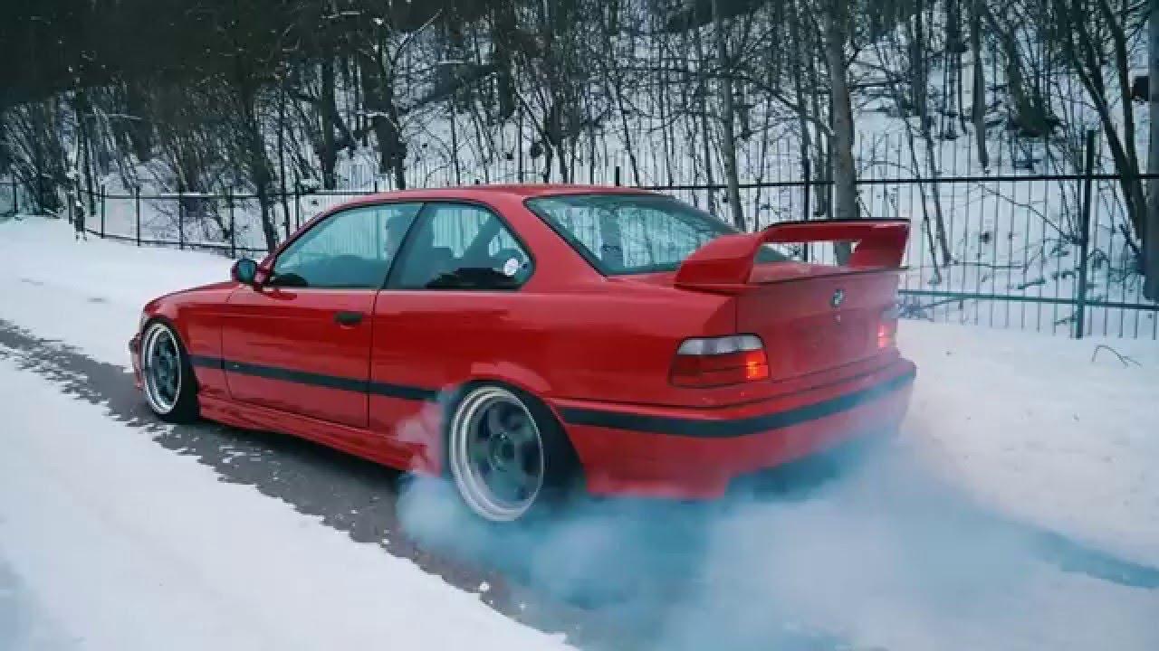 BMW e36 M3 Rear Diffuser & Burnout - YouTube