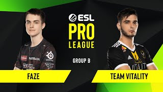 CS:GO - FaZe vs. Team Vitality [Inferno] Map 1 - Group B - ESL EU Pro League Season 10