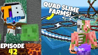 Truly Bedrock S2 Ep42! 4 NEW SLIME FARMS & Gold Farm Plans! Bedrock Edition Survival Let's Play!