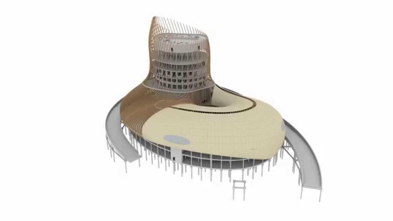 Tapes de r alisation de la cit des civilisations du vin for Maison de l architecture bordeaux