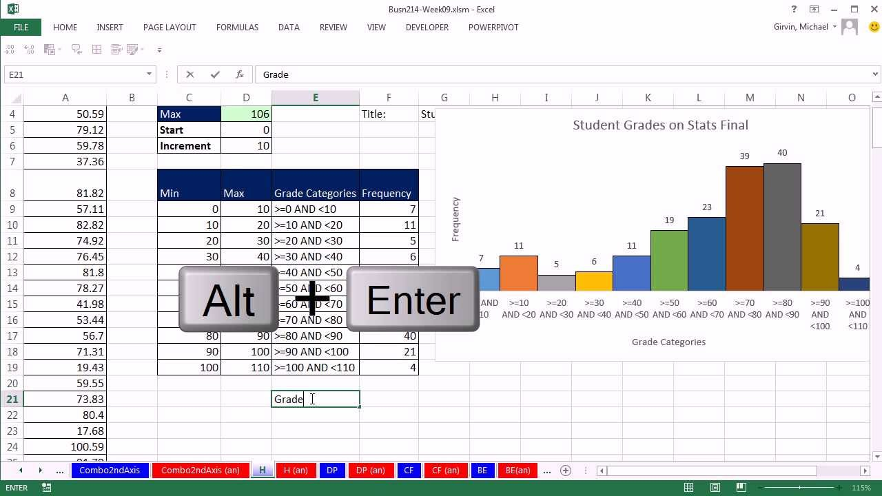 how to draw a histogram in excel 2013