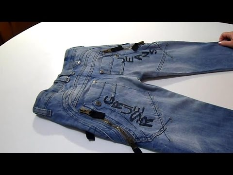 Как сшить детские джинсы из старых взрослых