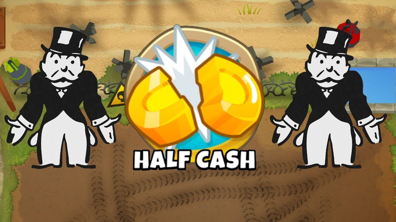 BTD6 Firing Range - HALF CASH MODE