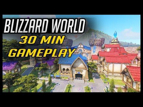 BLIZZARD WORLD 30min of  PTR GAMEPLAY
