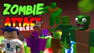 PLAYING ZOMBIE ATTACK ON ROBLOX WITH MY SISTER