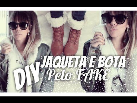 DIY: Jaqueta com pelo Gucci / Bota com pelo / e porta treco por dicadaka