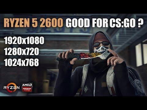 Is Ryzen 5 2600 good for CS:GO?? | SMT ON vs SMT OFF | 1920x1080, 1280x720  & 1024x768 FPS Benchmarks