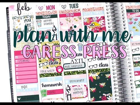 Plan with Me: Caress Press