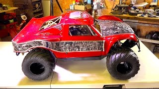 We went too far! OBR 46cc 12hp Gas Engine w/ Silenced Pipe in 4x4 Concept Truck | RC ADVENTURES