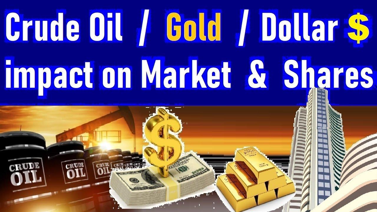 How Dollar $ , Gold , Crude Oil Affect Shares & Stock Market & Economy ⚫ Stock Market Classes | SMC