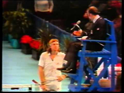 Bjorn Borg playing McEnroe and something unusual happens