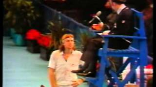 Bjorn Borg playing McEnroe and something unusual happens
