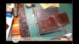 Leather DIY 05: Tutorial How to made a simple wallet - Hướng dẫn may ví nam cơ bản