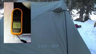 X-Mid UL 1P Tent On Snow!