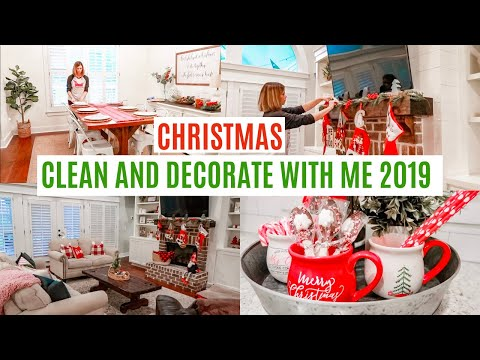 CHRISTMAS CLEAN AND DECORATE WITH ME 2019 // CHRISTMAS  HOUSE TOUR PART 1 Amy Darley