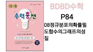[BDBD수학]고등학교 확률과통계 수력충전 P84 08…