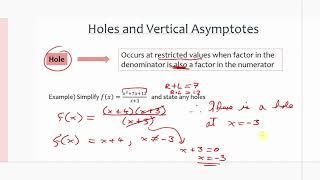 MCR3U/Grade 11 Functions: 2.4-2.5 Simplifying Rational Functions & Graphs of Rational Functions