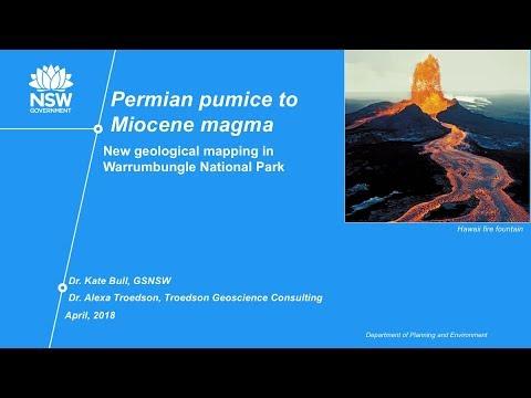April 2018 Talk - Dr. Kate Bull - Permian Pumice to Miocene Magma