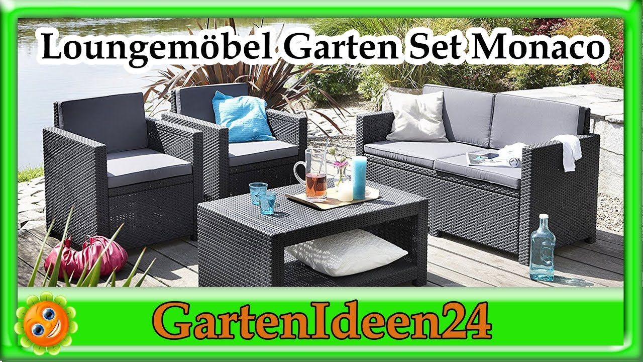 lounge set garten monaco gartenidee loungem bel aus rattan f r terrasse garten und balkon. Black Bedroom Furniture Sets. Home Design Ideas