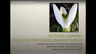 Outdoor Learning A Solution for Schools During COVID 19