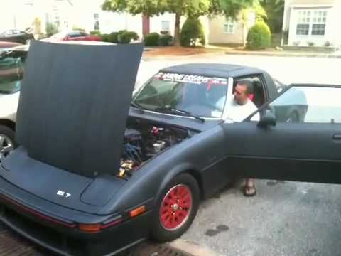 My 1984 Mazda RX7 GSLSE 13B with Headers  YouTube