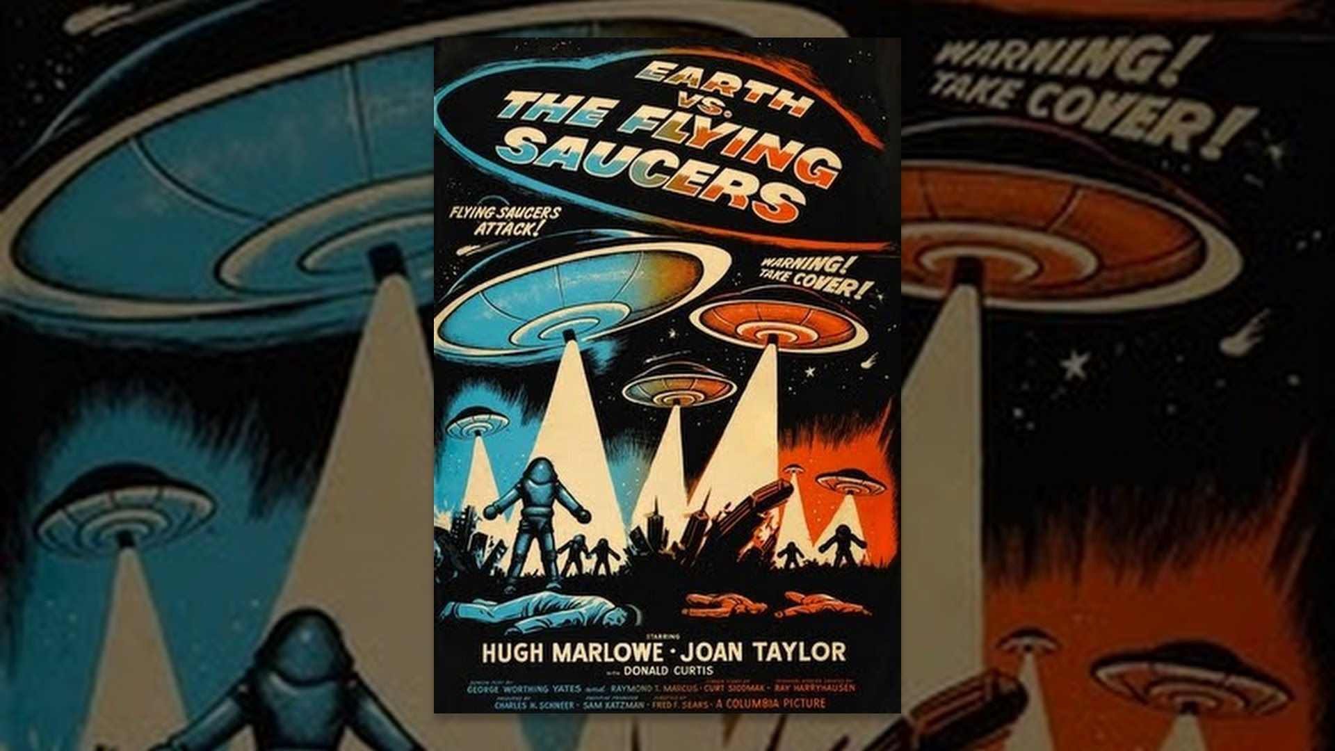 Earth vs. The Flying Saucers (Black & White) - YouTube