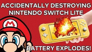 Switch Lite Battery EXPLODES! - Accidentally destroying a Nintendo Switch Lite...