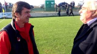 Interviu Dorin Mateut si Costel Pana. Meci amical Dinamo Bucuresti-Progresul Cernica. 7-0