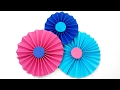 Diy making simple paper rosettes flower tutorial backdrop / Paper flowers decorations easy for kids