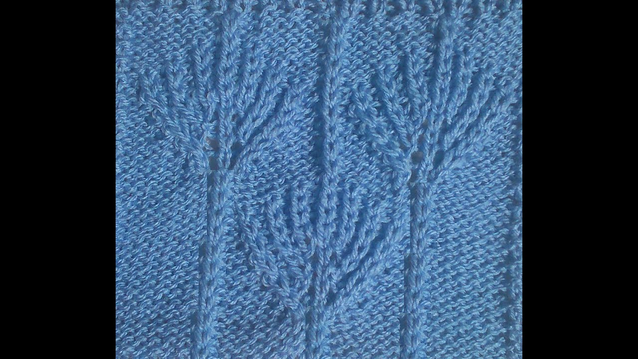 Brioche Leaf Knitting Stitch Pattern 2 Youtube