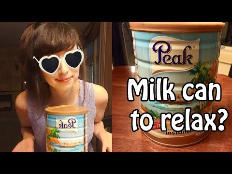 Unintentional ASMR (making a looper song with a milk can)
