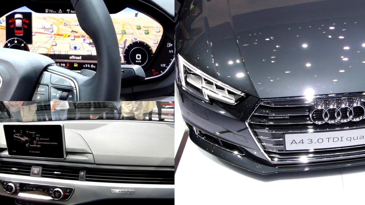 2016 audi a4 3 0 tdi quattro exterieur interieur in for Audi a4 onderdelen interieur