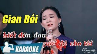 Gian Dối Karaoke Quý Lễ (Tone Nữ) | Nhạc Vàng Bolero Karaoke