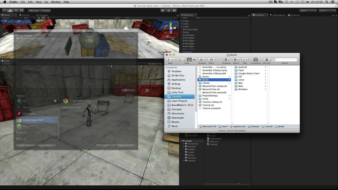 Build and Player Settings - Unity Official Tutorials