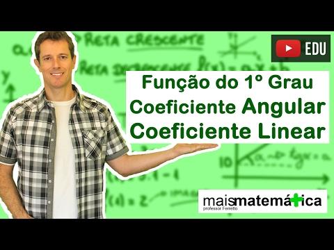 Função do Primeiro Grau (Função Afim): Coeficiente Angular e Coeficiente Linear (Aula 5 de 9)