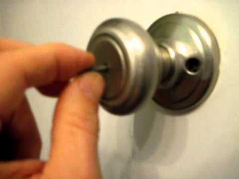 How to Open a Bathroom or Bedroom Privacy Lock from the Outside ...