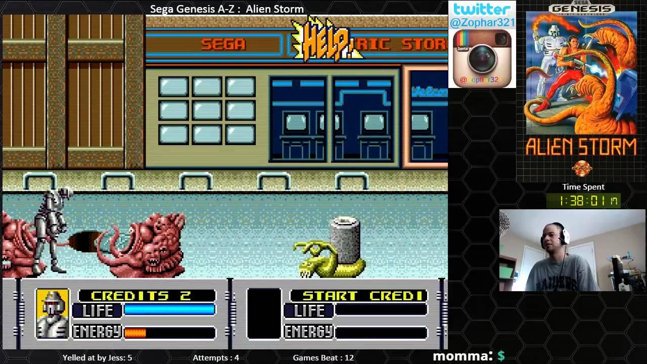 Sega Genesis A Z Alien Storm Journey To Beat Every Sega