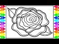How to Draw a Rose for Kids 🌹Rose Drawing   Rose Coloring Pages for Kids