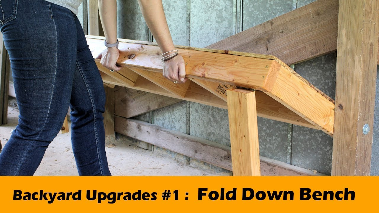 Diy Fold Down Bench Seat Backyard Upgrades 1 Youtube