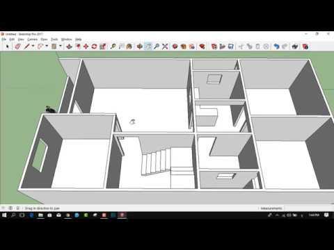 تصميم منزل 120 متر واجهة واحدة اسكتش اب 3d Youtube