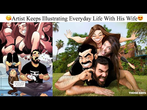 Artist Keeps Illustrating Everyday Life With His Wife N We Finally See The Couple Behind The Comics